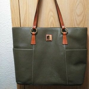 Dooney & Bourke Shoppers Tote Olive Green Large